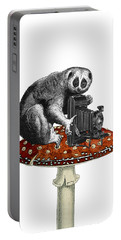 Slow Loris With Antique Camera Portable Battery Charger