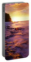 Slow Ocean Sunset Portable Battery Charger