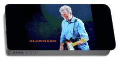 Portable Battery Charger featuring the digital art Slowhand by Dan Haraga