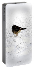 Small Bird On Snow Portable Battery Charger