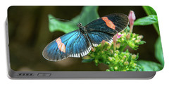 Small Black Postman Butterfly Portable Battery Charger