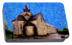 Portable Battery Charger featuring the photograph Small Church 1 by Jean Bernard Roussilhe