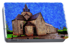 Portable Battery Charger featuring the photograph Small Church 2 by Jean Bernard Roussilhe