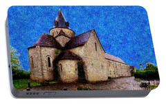 Portable Battery Charger featuring the photograph Small Church 3 by Jean Bernard Roussilhe