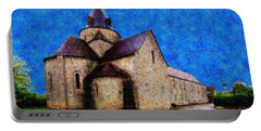 Portable Battery Charger featuring the photograph Small Church 4 by Jean Bernard Roussilhe