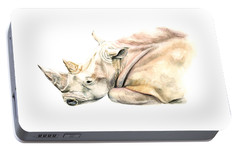 Small Colour Rhino Portable Battery Charger by Elizabeth Lock