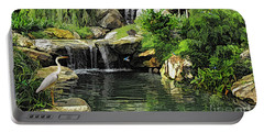 Small Creek Waterfall With Wildlife Portable Battery Charger