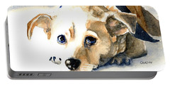 Small Dog With Tan Short Hair  Portable Battery Charger