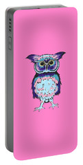 Small Owl Pink Portable Battery Charger