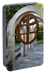 Portable Battery Charger featuring the photograph Small Park With Arches by Michiale Schneider