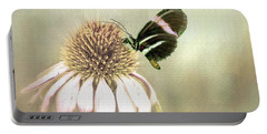 Small Postman Butterfly On Cone Flower Portable Battery Charger