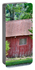 Portable Battery Charger featuring the photograph Small Red Barn - Lewes Delaware by Kim Bemis