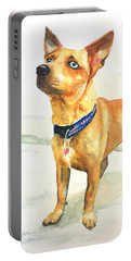 Small Short Hair Brown Dog Portable Battery Charger