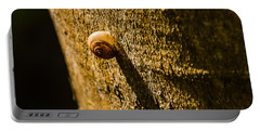 Small Snail On The Tree Portable Battery Charger