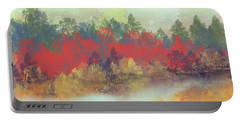 Portable Battery Charger featuring the digital art Small Spring by Jessica Wright