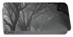 Small Town Foggy Morning Portable Battery Charger by Deborah Smith
