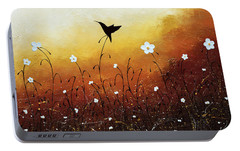 Portable Battery Charger featuring the painting Small Treasure by Carmen Guedez