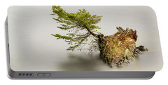 Small Tree On A Stump Portable Battery Charger