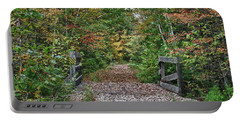 Portable Battery Charger featuring the photograph Small Trestle Along Rail Trail by Jeff Folger