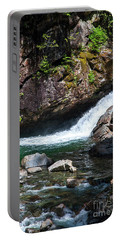 Small Waterfall In Mountain Stream Portable Battery Charger by Kirt Tisdale
