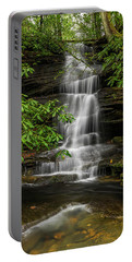 Small Waterfalls In The Forest. Portable Battery Charger