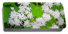 Small White Flowers Portable Battery Charger
