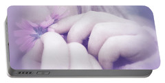 Portable Battery Charger featuring the digital art Smell Life - V07t3 by Variance Collections
