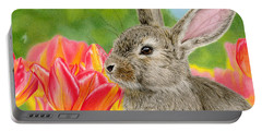 Smell The Flowers Portable Battery Charger