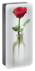 Portable Battery Charger featuring the painting Smell The Rose by Ivana Westin