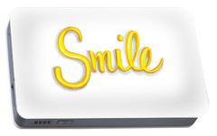 Portable Battery Charger featuring the drawing Smile by Cindy Garber Iverson