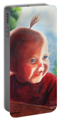 Portable Battery Charger featuring the painting Smile by Marilyn Jacobson