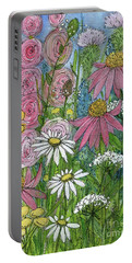 Smiling Flowers Portable Battery Charger