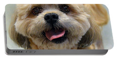 Smiling Shih Tzu Dog Portable Battery Charger by Catherine Sherman