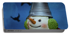 Smiling Snowman Portable Battery Charger