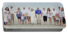 Smith Family At The Beach Portable Battery Charger