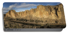 Smith Rock And Crooked River Panorama Portable Battery Charger