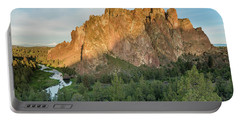 Portable Battery Charger featuring the photograph Smith Rock First Light by Greg Nyquist