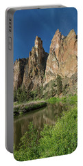 Smith Rock Spires Portable Battery Charger by Greg Nyquist
