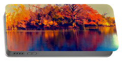 Portable Battery Charger featuring the digital art Smoke Signals by Wendy J St Christopher