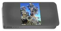 Portable Battery Charger featuring the photograph Smoke Tree In Bloom With Blue Purple Flowers by Jay Milo