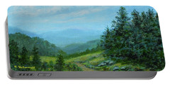 Smokey Mountains Calling Me Portable Battery Charger by Kathleen McDermott