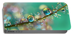 Smokey Rainbow Drops Portable Battery Charger