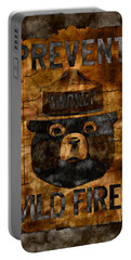 Smokey The Bear Only You Can Prevent Wild Fires Portable Battery Charger