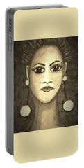 Smoking Woman 1 Portable Battery Charger
