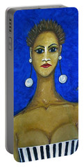 Smoking Woman 2 Portable Battery Charger