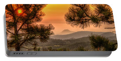 Smoky Black Hills Sunrise Portable Battery Charger