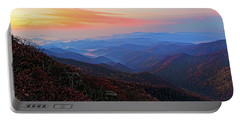 Dawn From Standing Indian Mountain Portable Battery Charger