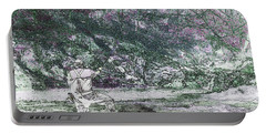 Portable Battery Charger featuring the photograph Smoky Mountain Fisherman by Mike Eingle