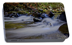 Portable Battery Charger featuring the photograph Smoky Mountain Stream by Douglas Stucky