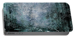 Smoky Mountain Winter Portable Battery Charger by Mike Eingle
